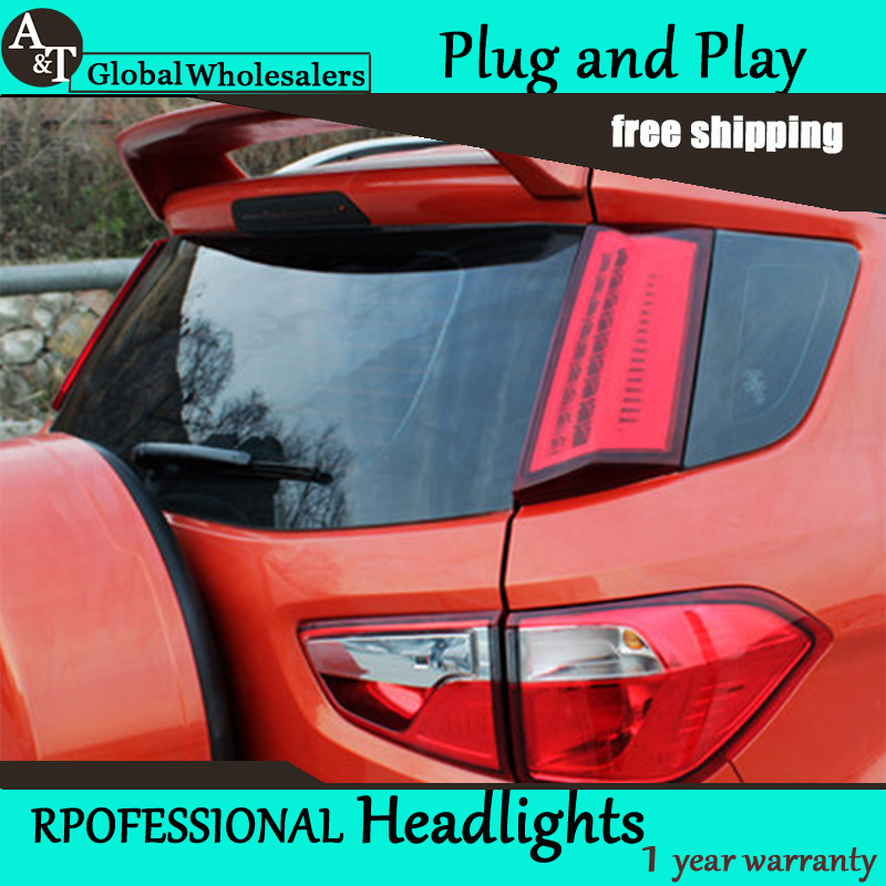 Car Styling Accessories for Ford Ecopsort Taillights 2014-2015 LED Tail Lamp LED Rear Lamp DRL+Brake+Park+Signal led light akd car styling led drl for kia k2 2012 2014 new rio eye brow light led external lamp signal parking accessories