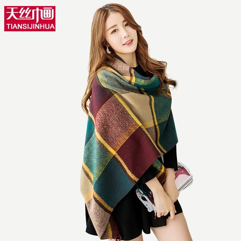 za Winter font b Tartan b font Scarf 200 60CM Plaid Blanket Scarfs 2016 Unisex Shawls