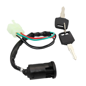 Interruptor de encendido Universal de 4 cables para motocicleta, interruptor cilíndrico de 50cc, 110cc, 125cc, 250cc, PIT Quad Dirt Bike, accesorios de motocicleta