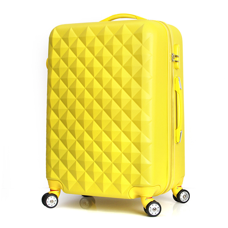 Оптовая продажа! девушка Прекрасный Корея мода ABS Hardside тележка багаж на универсальные диски, 22 дюймов розовый/фиолетовый камера подарки