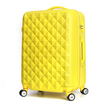 Wholesale!Girl lovely korea fashion abs hardside trolley travel luggage on universal wheels,22inches pink/purple luggage gifts