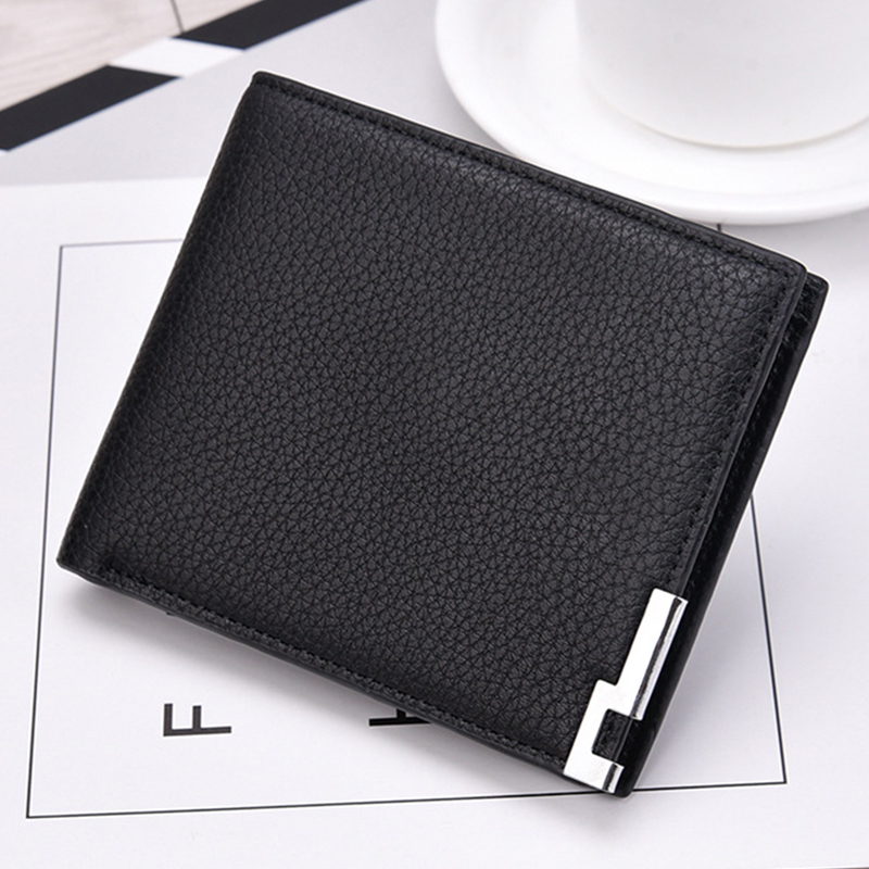 PU Leather Wallets Men Brand Purses For Men Black Brown Short Wallet With Card Holder Male Purse Coin Money S Wallets MWS238 zshop black men long purse the witcher 3 short pu wallets for teenagers male carteira high quality gifts wallet for friends
