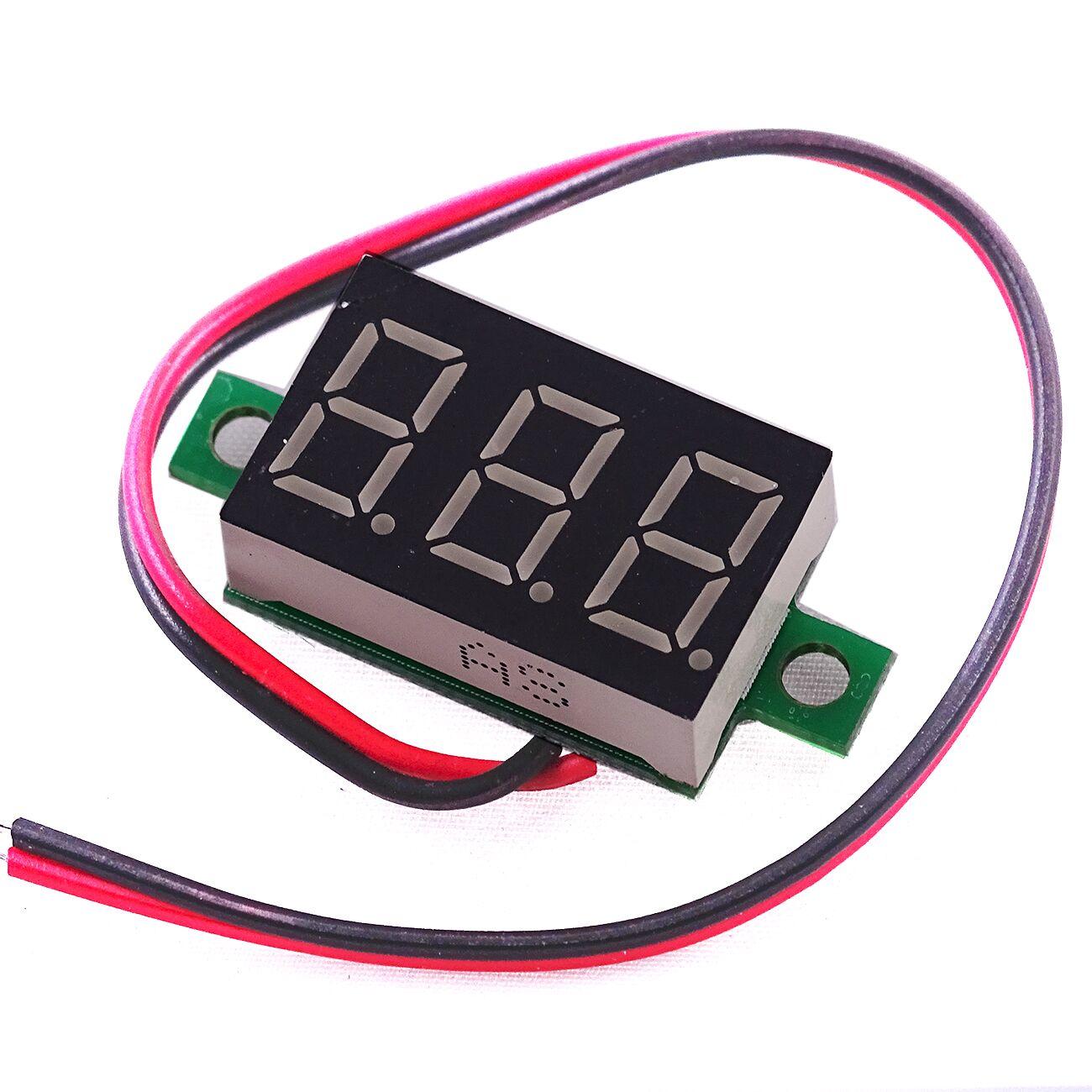 """High Precise DC 2.50-32.0V 0.36/"""" LED Red Digital Panel Voltage Meter Voltmeter"""