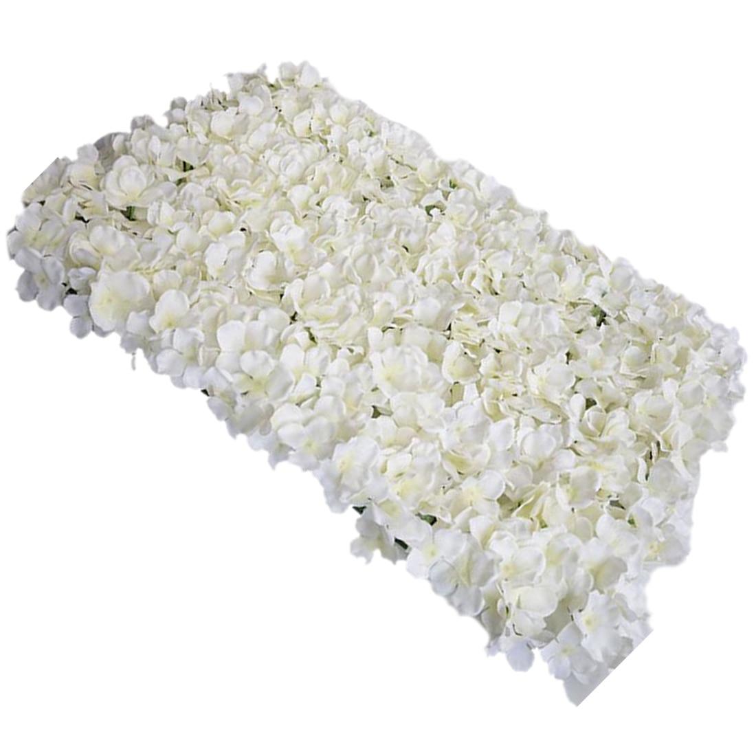 Noble Carpet type Hydrangea DIY wedding Setting wall decoration Road led flower T stage decoration Photo background white pink