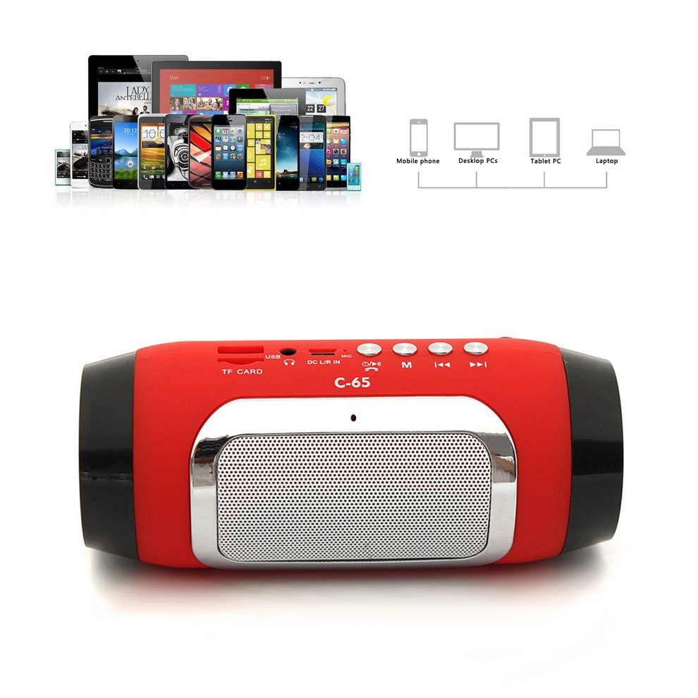 5pcs Portable Mini Speaker Rechargeable Bluetooth Speaker MP3 FM Radio For Smartphone Tablet PC Stereo Music Loudspeaker