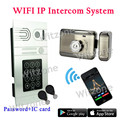 Video Door Phone Wireless Video Intercom Doorbell Snap&Recording Motion Detection Alarm Password Code/IC Card/APP Remote Unlock