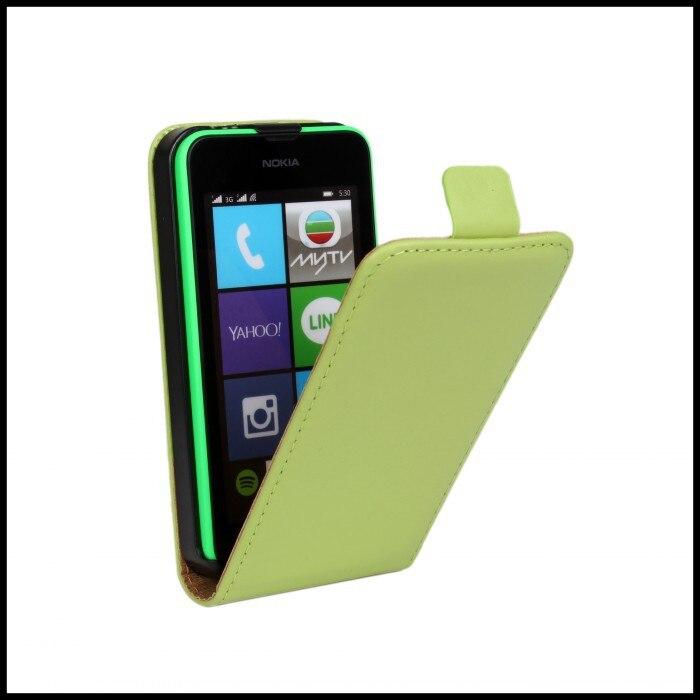 Para nokia lumia 530 case accesorio del teléfono simple elegante bolso de cuero