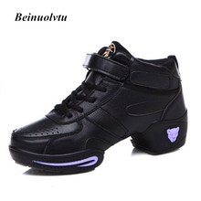 Popular dance sneakers for women dance shoes modern jazz shoes autumn winter female leather sports dancing