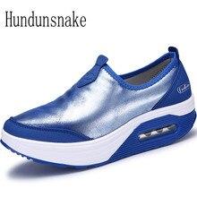 Hundunsnake Rocking Shoes Swing Women Sneakers 2017 Basket Femme Running Shoes Ladies Sport Shoes Female Krasovki Gumshoes T265
