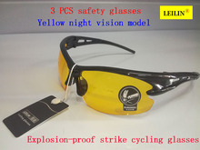 LEILIN protective glasses high quality PC Scratch scratch safety glasses 3PCS Ride movement airsoft glasses
