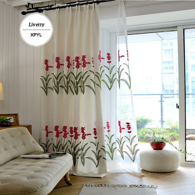Linen Cotton Fabric Luxury Curtains Blackout For Bedroom Blinds
