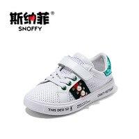 Snoffy 2017 Printemps Enfant Garçon Sport Blanc Chaussures Creux Maille D'été Enfants Chaussures Fille Formateur Bébé Marque Casual Sneaker TX302