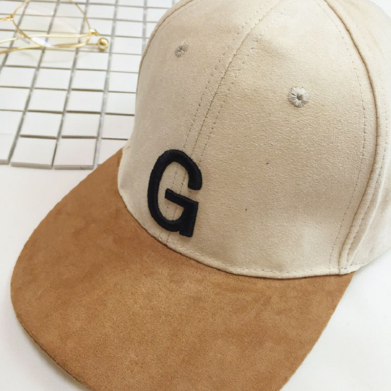 f79777c8384 Unisex Suede Baseball Cap With Embroidery Letter G Curved Brim Snapback Hat  Hip Hop Caps Fashion Velvet Hats For Men And Women-in Baseball Caps from  Apparel ...