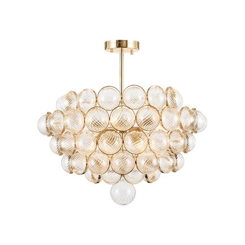 Luxtury lustre en verre lampadaire moderne couleur dorée E14 ampoule lumière boule de verre Art artistique créatif luminaire