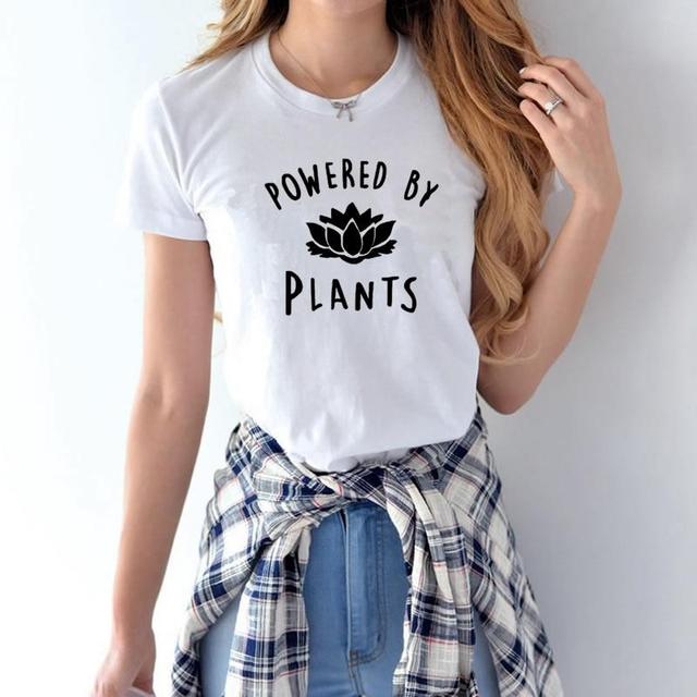 Powered by Plants Printed Vegan T-Shirt for Women