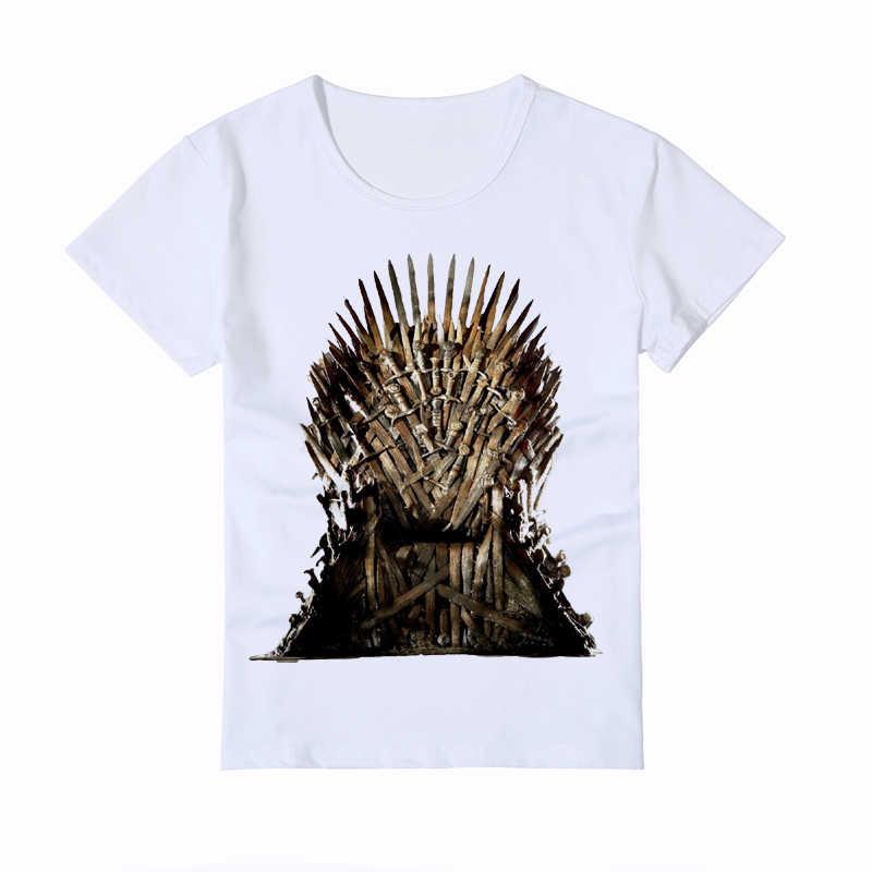 b1f8eb67a ... Funny Creative Cartoon Design House Stark T-Shirt Kid's Game of Thrones Baby  T Shirt ...