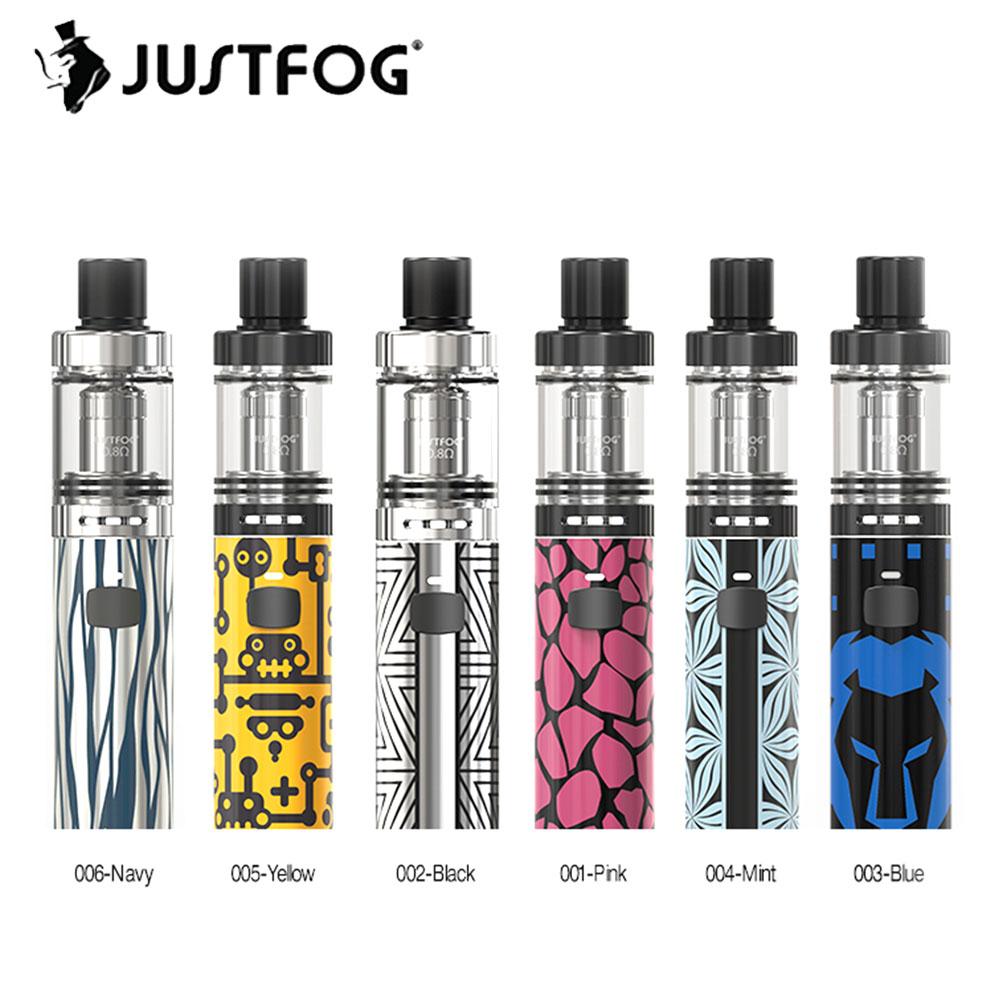 Hot Sell Original JUSTFOG FOG1 Kit w/ 2ml Tank & Built-in 1500mAh Battery & Coil Cylinder All-In-One Kit Starter Kit Vs Ijust S цена