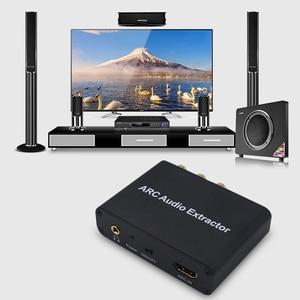 Image 3 - Kebidu الألومنيوم قوس محول الصوت HDMI مستخرج الصوت الرقمي إلى التناظرية محول صوت AUX SPDIF محوري RCA 3.5 مللي متر جاك الناتج