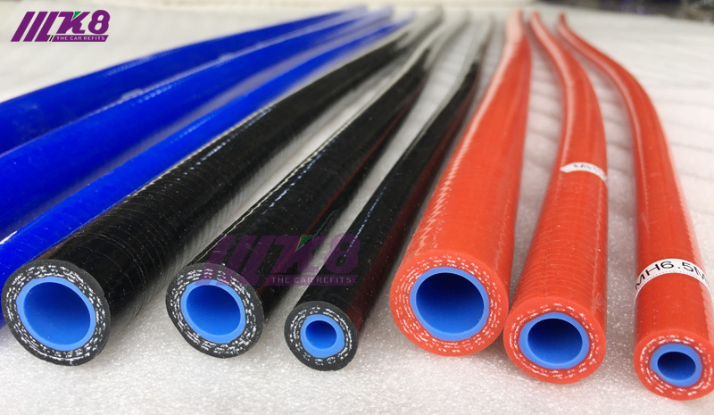 """2.25/"""" 57mm 1M Straight Silicone Coolant Hose 1M Meter Length Intercooler Blue"""