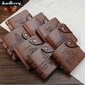 Baellerry Baellery Retro Men Wallet With Hole Hasp Purse High Quality PU Leather Luxury Brand Logo Designer Short Wallets Purse