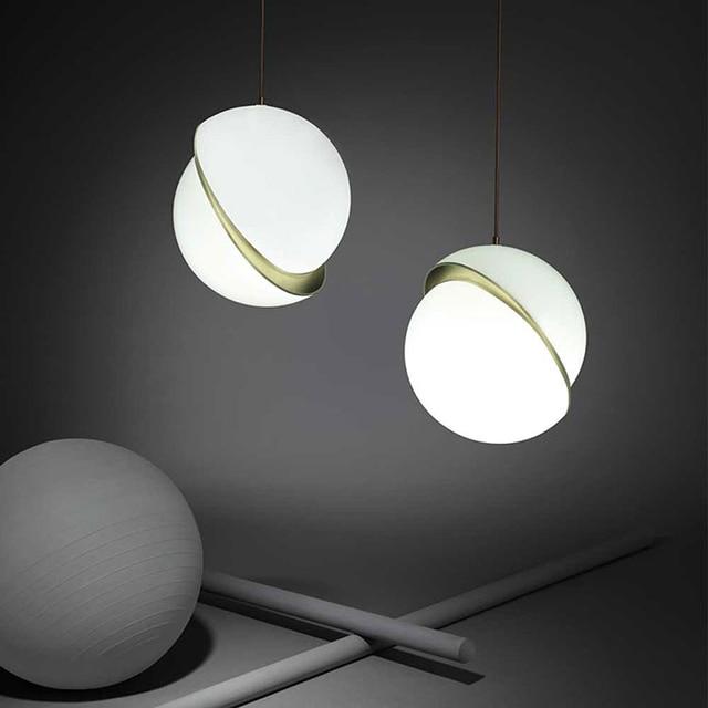 Us 110 67 7 Off Led E27 Nordic Iron Gl Designer Lamp Light Pendant Lights For Dinning Room Foyer In