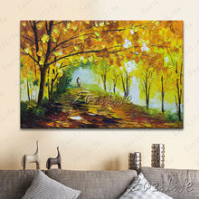 Hand painted Canvas Oil painting Wall Pictures for Living room wall decor art canvas painting palette knife landscape 4