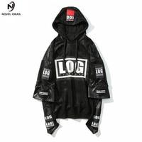 Novel ideas Winter Jacket Hoodie Men Sweatshirts 2pc Leather Stitching Rock Style 3d Printed Hoodies Rap Male Sweatshirt