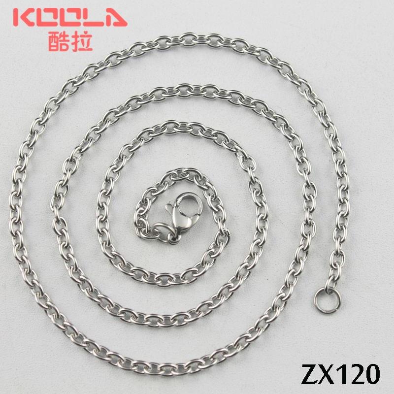 100 mètre chaîne en acier inoxydable 3mm anneau ouvert elliptique anneaux chaînes collier pièces ZX120-in Colliers chaîne from Bijoux et Accessoires    1