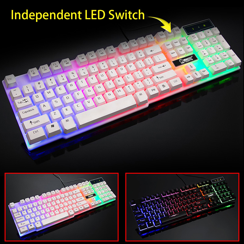 104 Key Waterproof Rainbow Backlit Slim LED Backlight Gaming Keyboard 104 Key Waterproof Rainbow Backlit Slim LED Backlight Gaming Keyboard HTB1zOsbSFXXXXXfXXXXq6xXFXXXk