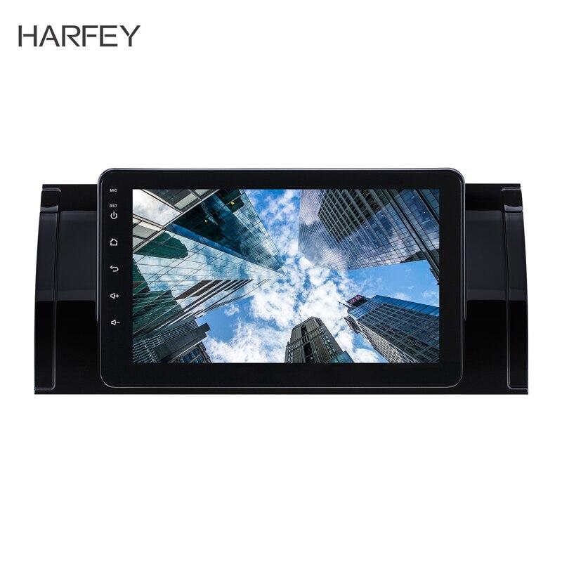 Harfey 8 pouces Android 8.1 GPS Navigation Radio pour BMW X5 E53 2000-2007 avec écran tactile Bluetooth AUX support DVR Carplay TPMS
