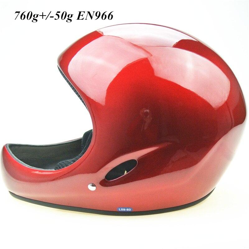 Casque de parapente standard EN966 760g +/-50g casque de deltaplane rouge