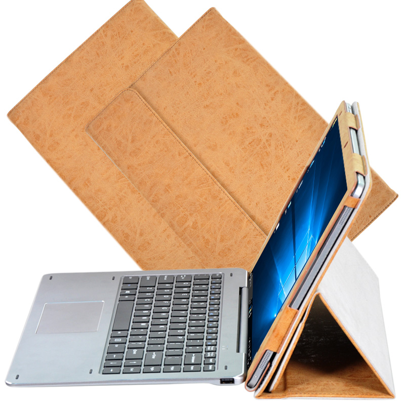 Brown PU Leather Folding Folio Protective Pouch Bag Case For Chuwi Hi13 Hi 13 13.5 Tablet Funda Capa Cover + Clear Film + Pen new total english intermediate workbook with key cd