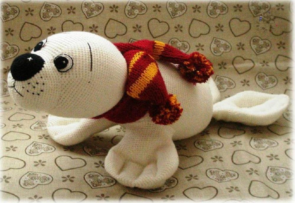 crochet toys  amigurumi seal  model number KO009
