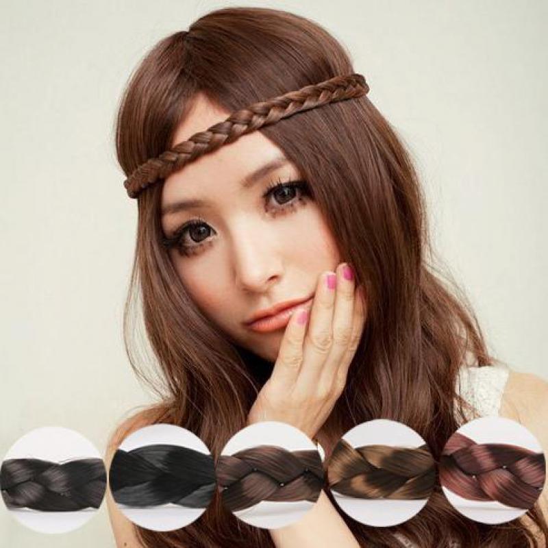 unids moda femenina peluca trenzas trenza de pelo de la venda elstico venda del pelo