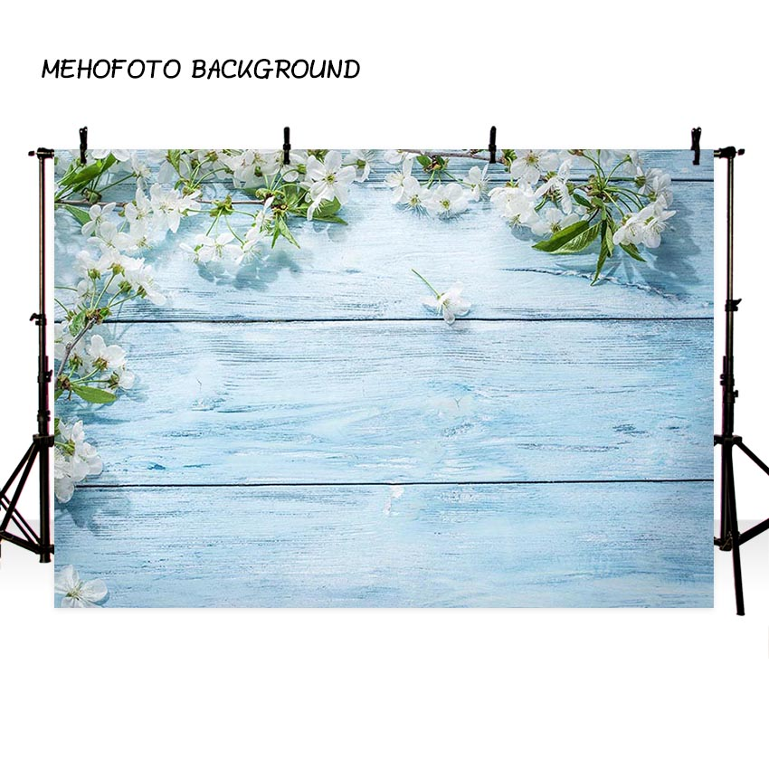 Vinyl Light Blue Floor Photography Background For Wedding Flower Backdrop Lover photo studio Customize