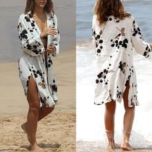 White Beach Dress Cover-up Swimwear Beach Tunics Bathing Sui