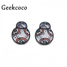 Star war Robot BB Creative minimalism fashion earrings for Women Lovely Earrings Girls Stud Accessories Cartoon Jewelry J0300