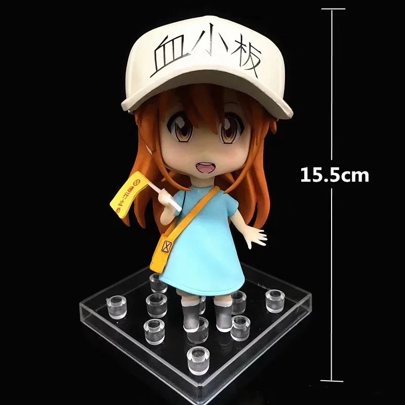 Japan Anime Hataraku Saibou figure Platelet figure Kesshoban Nendoroid Girl model toy Gift 15.5cm
