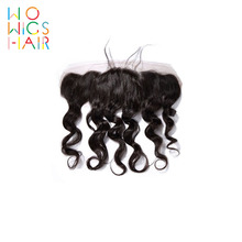 WoWigs Hair Loose Wave Lace Frontal Remy Natural Color 100% Human Free Shipping