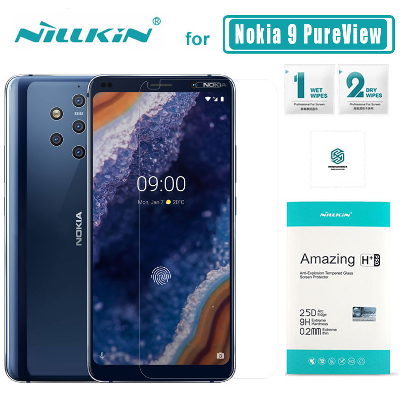 For Nokia 9 PureView Glass Nillkin 9H+ Pro 2.5D Tempered Glass Screen Protector Ultra-thin for Nokia 9 PureView Nilkin Glass