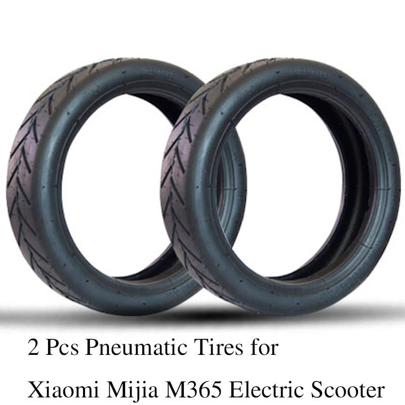 2 Pcs Pneumática Pneus Câmaras de ar Tubo de Inflação para Xiaomi Mijia M365 Scooter Elétrico 8 1/2x2 Atualizado Grosso Roda de Vácuo pneu