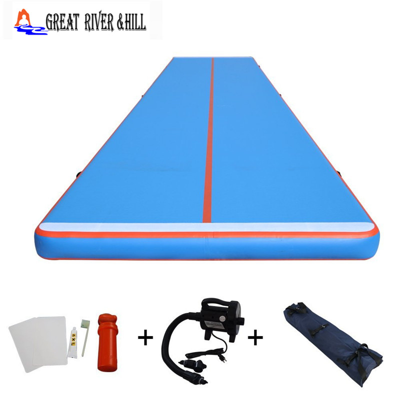 Great river hill gymnastic mat inflatable air track be used in combination 12m x 2m x 20cm
