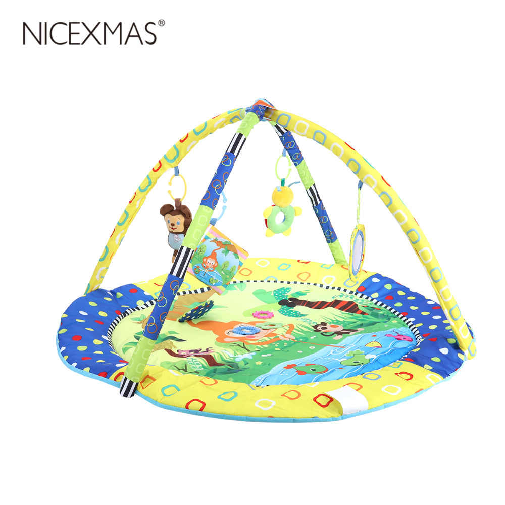 1pc/set Musical Educational Cartoons Playing Playing Mat Educational Toys for Baby Education Gift Birthday