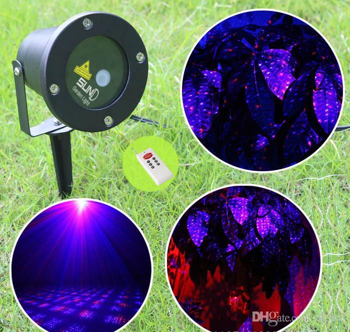 Laser Light Projector Light Red*Blue Outdoor LED stage laser Light Park Road Spotlight Waterproof Xmas laser Garden Lights