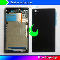 New Full housing For Sony Xperia Z2 L50w D6503 D6502 Middle LCD Frame Bezel+ Rear Glass Back Battery Cover+Side Buttons