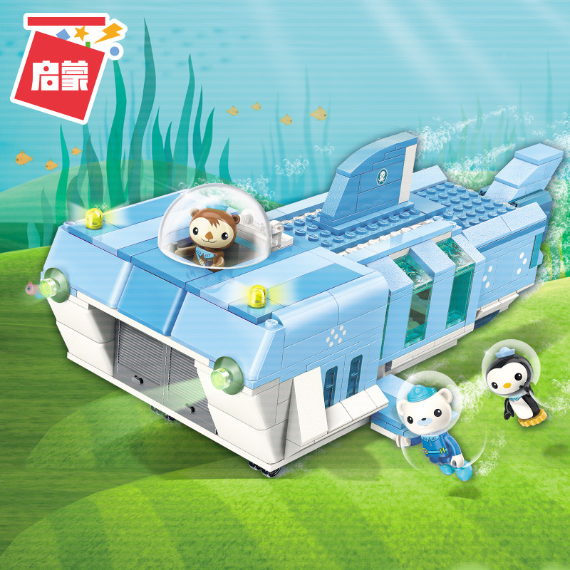 Octonauts Building Block White shark base Barnacles shellington peso 403pcs Educational Bricks Toy For Boy Gift все цены