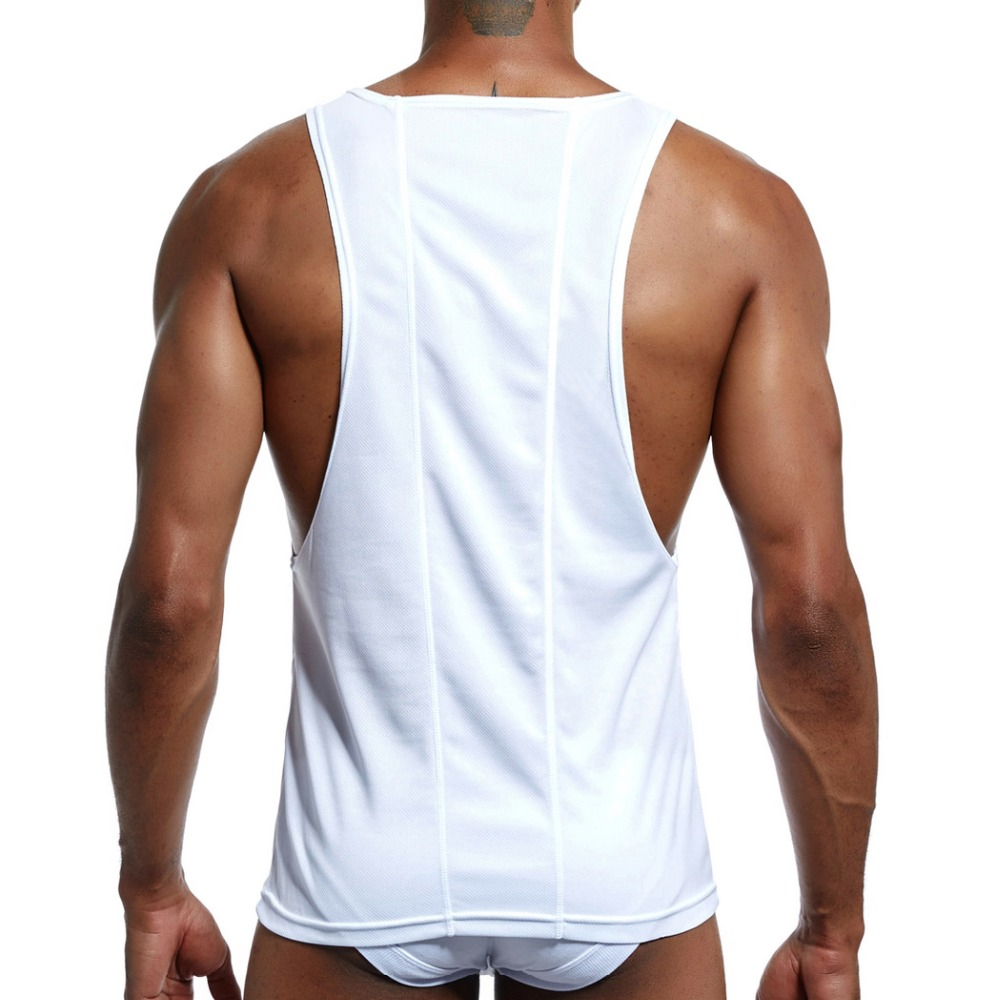2aed1b2f4 US $9.79 45% OFF|JOCKMAIL Quickly Dry High elastic polyester Mens Running  Shirts Loose Gym Tank Top Fitness Sleeveless T shirts Sport Running -in ...