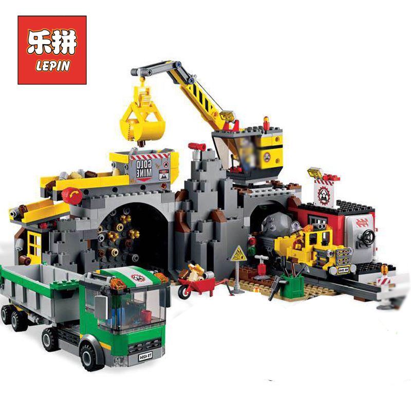 2018 new Lepin 02071 City Series the City Mine Set Model & Building Blocks Bricks 4204 Educational Children Toys Christmas Gift 407pcs sets city police station building blocks bricks educational boys diy toys birthday brinquedos christmas gift toy