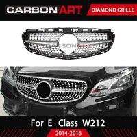 Для Mercedes E class W212 sport Edition E180 E200 E260 E300 Алмазная пластиковая решетка сетка Замена черного цвета с камерой