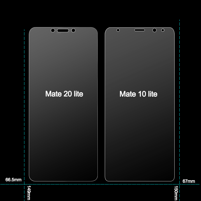 2Pcs Glass for Huawei Mate 20 Lite Glass Screen Protector on Phone Protective Safety Tempered Glass for Huawei Mate 10 20 Lite